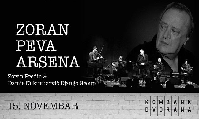 Koncert Zoran peva Arsena 15. novembra u Kombank dvorani