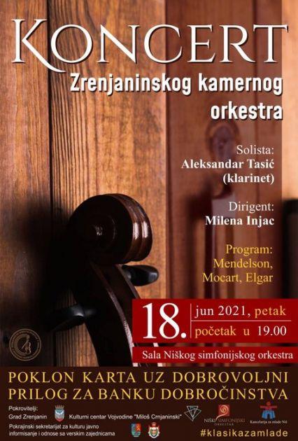 Koncert Zrenjaninskog kamernog orkestra u Nišu, u Novom Sadu 26. juna