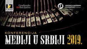 """Konferencija """"Mediji u Srbiji 2019."""" 14. decembra u Beogradu"""