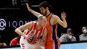 Košarkaši Zvezde izgubili od Valensije