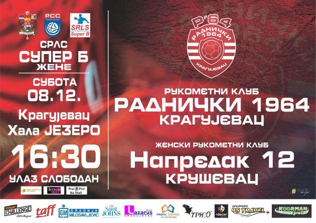Kragujevčanke dočekuju Kruševljanke u poslednjoj utakmici jesenje polusezone (subota, 16.30 h)