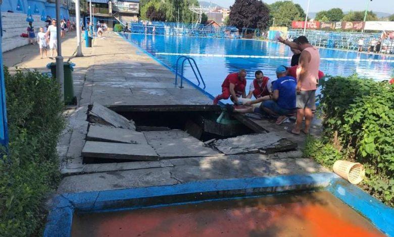 Kupač propao kroz betonsku ploču u Novom Pazaru
