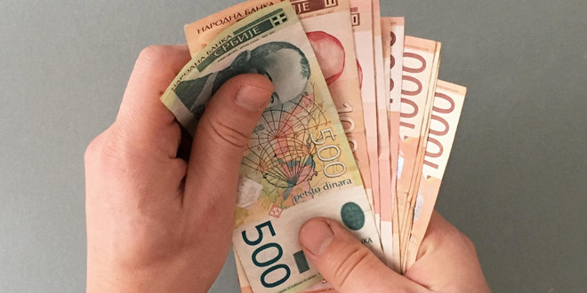 Kurs 117,5808 dinara za evro