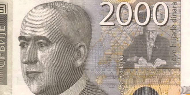 Kurs - 117,5907 dinara za jedan evro
