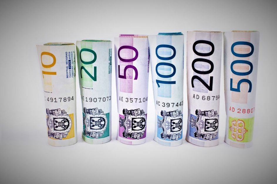 Kurs dinara u ponedeljak 117,5890