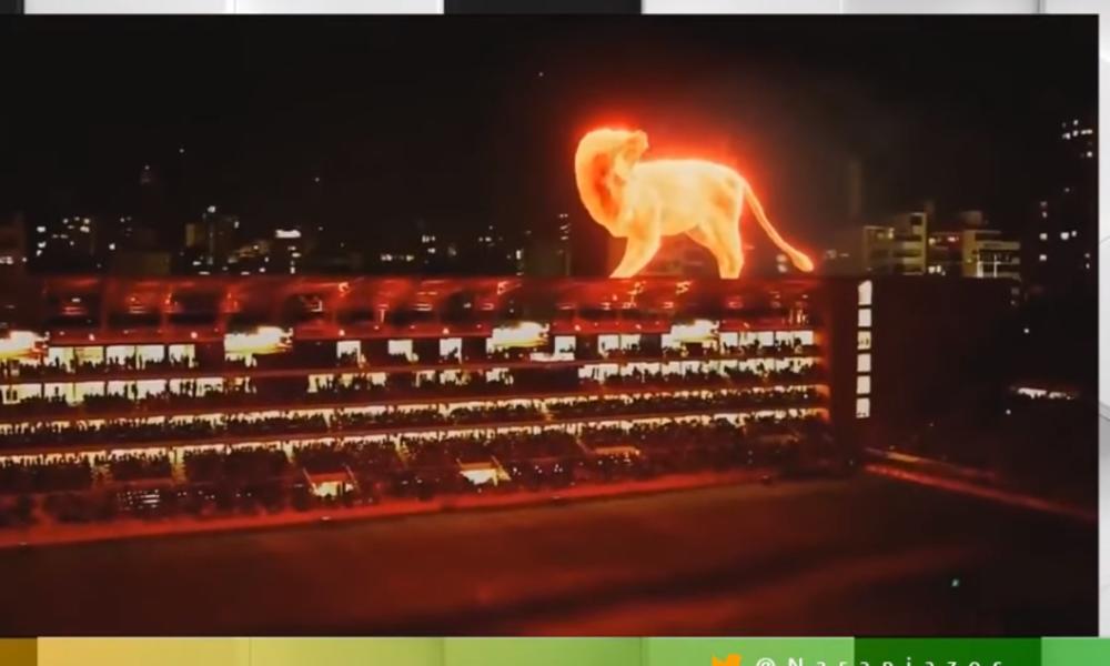 LAV SE VRATIO KUĆI: Pogledajte spektakularnu hologramsku projekciju kojom je Estudijantes obeležio povratak na svoj stadion! (VIDEO)