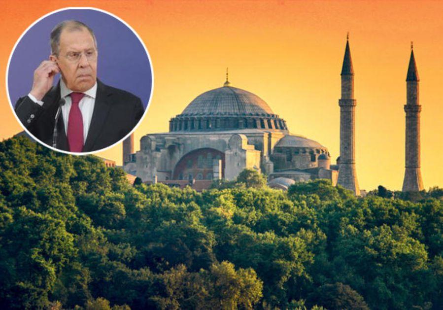 LAVROV OŠTRO UPOZORIO TURKE: Ruski ministar spoljnih poslova o statusu Aja Sofije!