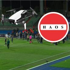 LIGA EVROPE: Haos i PREKID zbog DRONA! Srpski Ajntraht izdržao i pobedio, Sergej POGODIO! (FOTO)