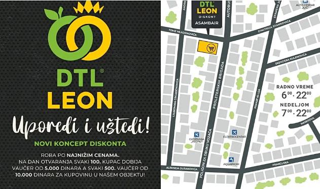 Leon otvorio novi diskont u Vranju, NAGRADE za današnje mušterije