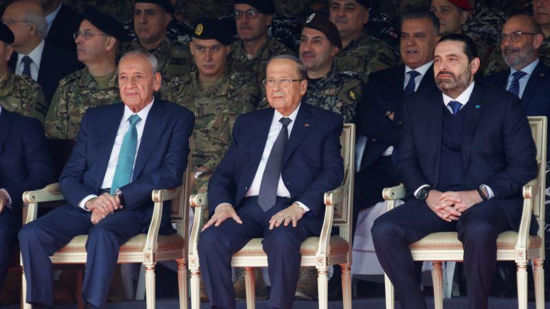 Libanski lideri zajedno na vojnoj paradi