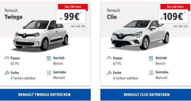 Lidl najavio prodaju automobila u Nemačkoj