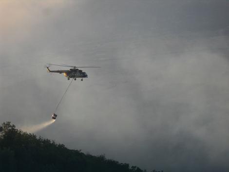 Ljubinje: Na gašenju požara angažovani pripadnici Oružanih snaga BiH