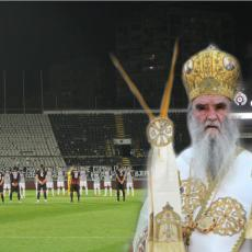 MALI GEST ZA VELIKOG MITROPOLITA Poslednji pozdrav navijača Partizana Amfilohiju: Ti ćeš Đede... (FOTO)
