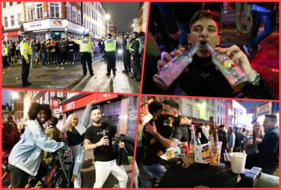 MANI KORONU, DAJ PIVO: Britanci posle ukidanja karantina pohrili u barove i restorane! (FOTO, VIDEO)