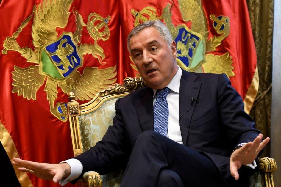 MILO ĐUKANOVIĆ PORUČIO: Nova vlast u Crnoj Gori služi interesima drugih država