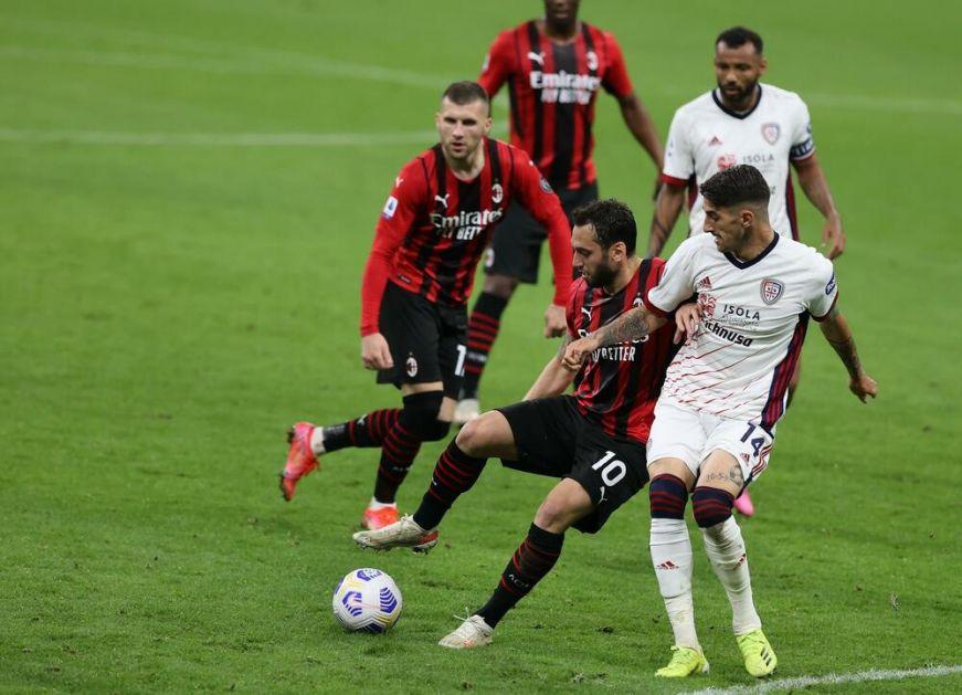 MIROVALE MREŽE NA ĐUZEPE MEACI: Bez pogodaka u utakmici Milana i Kaljarija