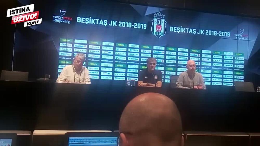 MOGU SEBE ZAMISLITI KAO SELEKTORA SRBIJE: Evo šta je posle meča sa Partizanom rekao trener Bešiktaša (KURIR TV)