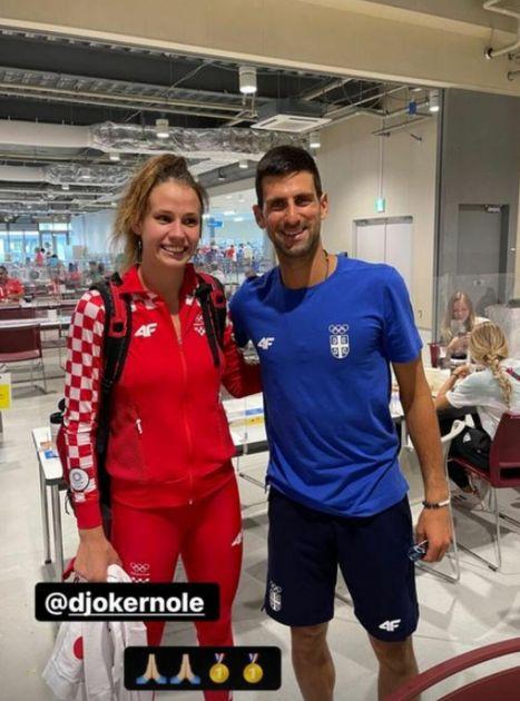 MOLILA NOVAKA ZA SLIKU, PA LUDOVALA SA TOMPSONOM! Hrvatica koja je veličala OLUJU slavila medalju uz kontroverznog pevača!