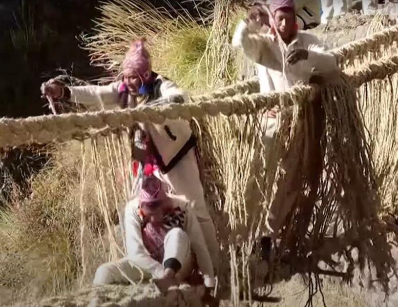 MOST OD KANAPA: Peruanci ponovo ISTKALI 500 godina stari Inka most VIDEO