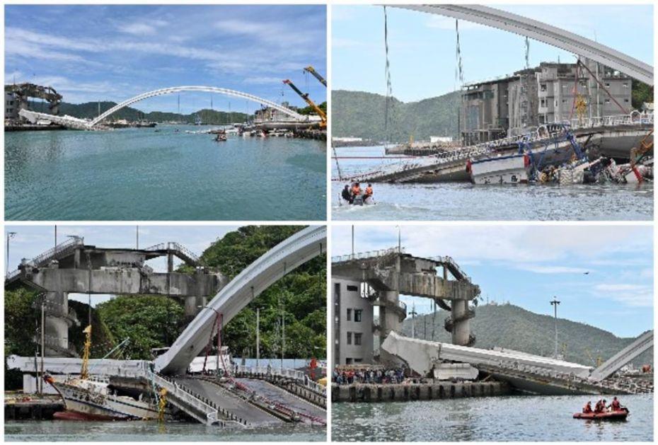 MOST PAO IZ ČISTA MIRA, A ONDA JE POČEO HOROR: Gomile betona i cisterna puna nafte pali na ribarske brodiće, a onda je SVE BUKNULO! (VIDEO)