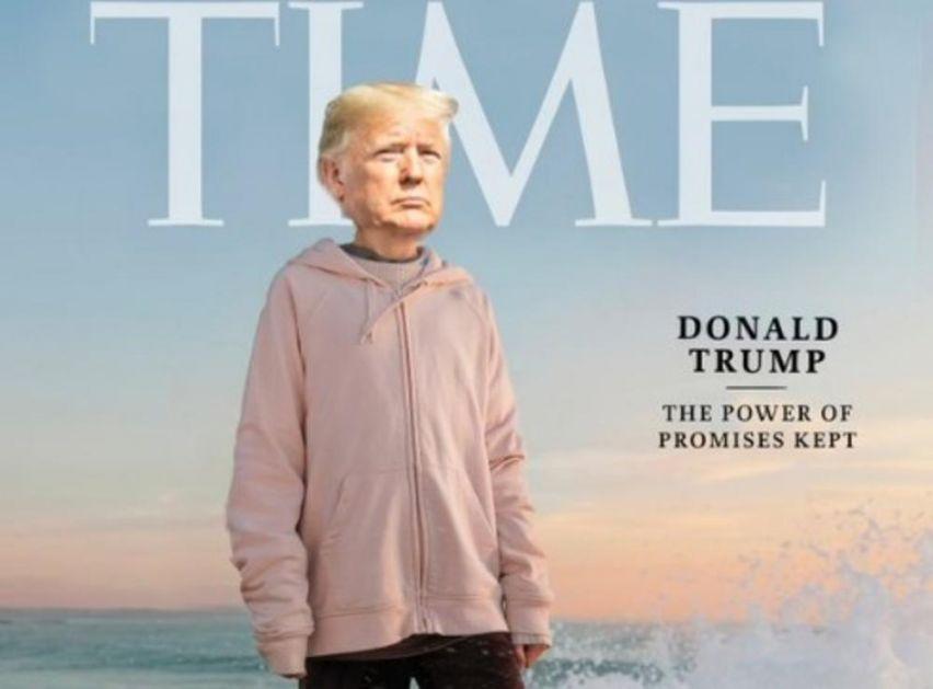 MOŽE BITI SAMO JEDNA LIČNOST GODINE: Tramp fotošopovao Gretinu sliku i nakačio svoju glavu na njeno telo (FOTO)
