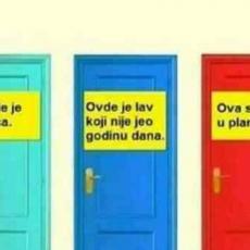 MOŽETE IZABRATI SAMO JEDNA! Na koja vrata bi ušao da spasiš svoj ŽIVOT? (FOTO)