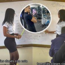 MUŠKARCIMA PADAJU VILICE: Nastavnica držala čas u MINIĆU I ŠTIKLAMA - učenici se otimali oko mesta u PRVOJ KLUPI! (FOTO/VIDEO)