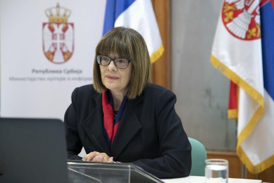 Maja Gojković otvara Paviljon Srbije na venecijanskom Bijenalu