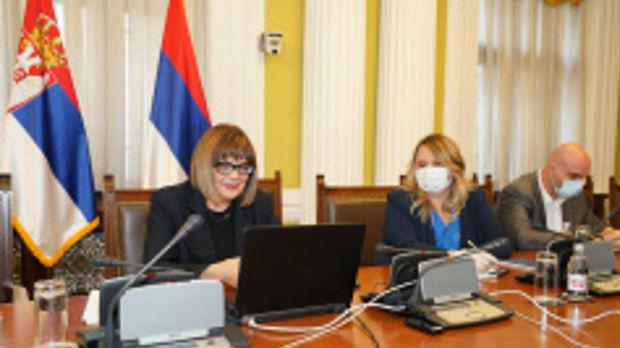 Maja Gojković razgovarala sa Tanjom Fajon i Vladimirom Bilčikom o uslovima za izbore