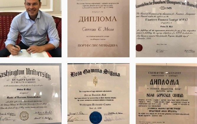 Mali objavio diplome na Instagramu
