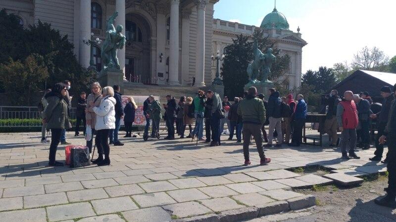 Manji protest ispred Skupštine Srbije