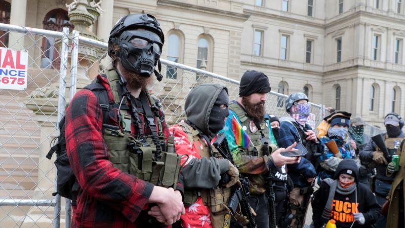 Manji protesti održani ispred dobro čuvanih državnih skupština u SAD
