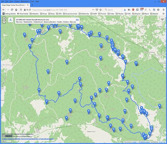 Mapa biciklističkih ruta u Srbiji