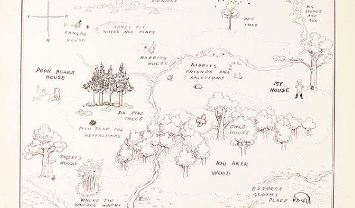 Mapa iz Vinija Pua postala najskuplja ilustracija knjige