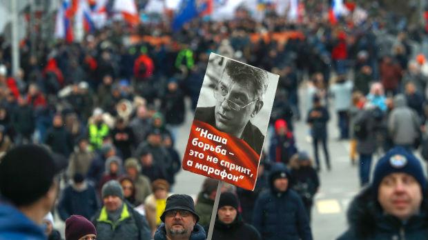 Marš u znak sećanja na ubijenog Borisa Njemcova