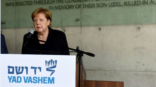 Merkelova u memorijalnom centru Jad Vašem