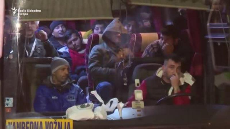 Migranti iz kampa Vučjak prebačeni u Ušivak kraj Sarajeva