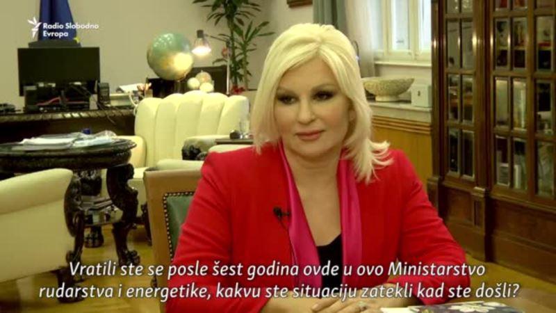 Ministarka energetike Zorana Mihajlović za RSE: Srbija želi alternativu ruskom gasu
