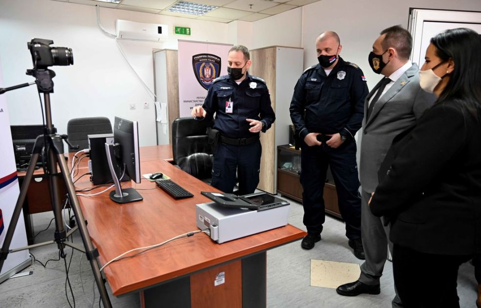Ministarstvo unutrašnjih poslova dobilo 15 daktiloskopskih sistema