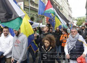 """Mirni skup podrške Palestini u Sarajevu: """"Uz tebe smo, Gazo"""""""