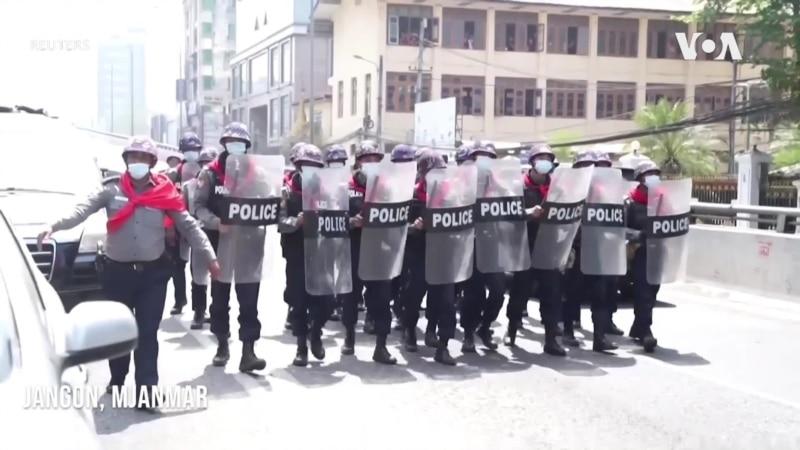 Mjanmar: Policija rasteruje demonstrante