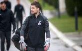 Mladi golman Teleoptika na pripremama sa Partizanom