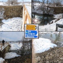 Most na reci Lepenici (Cvetojevac, Kragujevac), 18. 1. 2021.