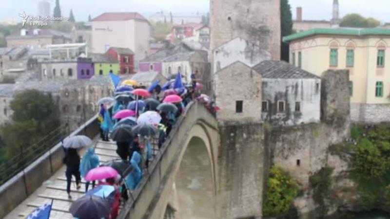 Mostar: 26. godišnjica rušenja Starog mosta