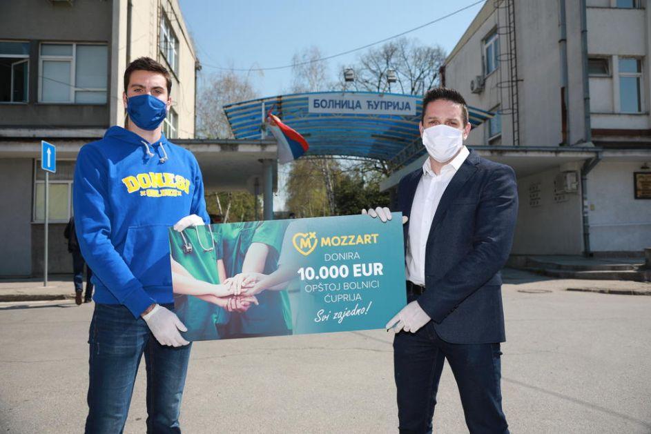 Mozzart donirao više od milion dinara Opštoj bolnici u Ćupriji