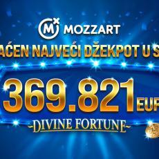 Mozzart isplatio najveći džekpot u istoriji Srbije: 369.821 EVRO!