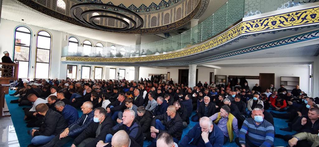 Muftija dr. Dudić održao prvu hutbu u novootvorenom IC Gazilar