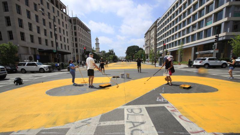 Gradske vlasti naslikale mural Životi crnaca su važni blizu Bele kuće