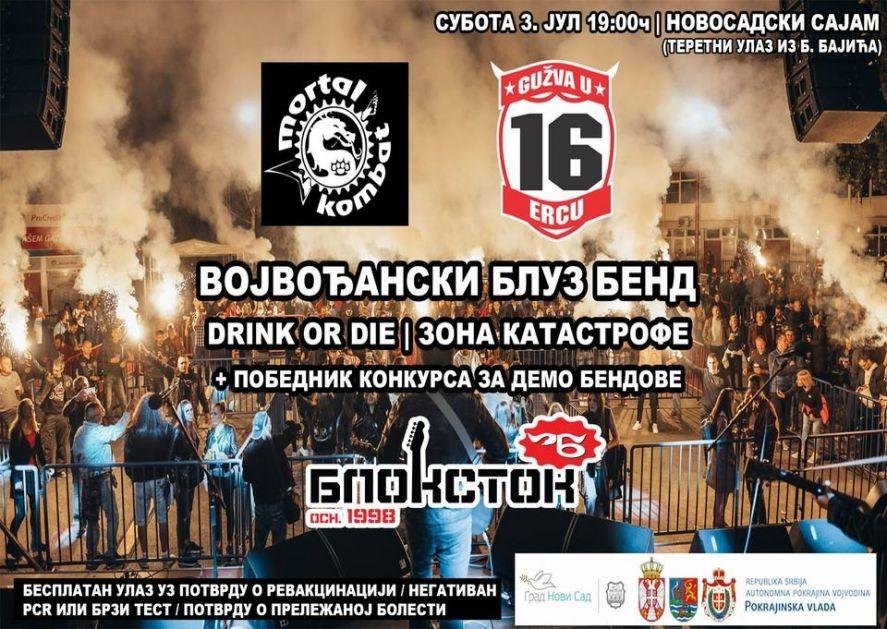 Muzički Blokstok festival 3. jula na Novosadskom sajmu