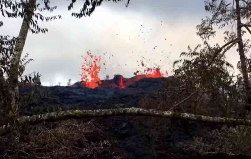 NAJGORI SCENARIO SE OSTVARUJE: Vulkan na Havajima počeo da izbacuje PROJEKTILE! (VIDEO)
